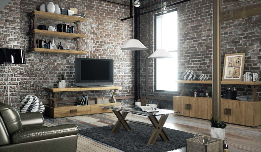 decoraci n industrial mobiliarios para ambiente industrial. Black Bedroom Furniture Sets. Home Design Ideas