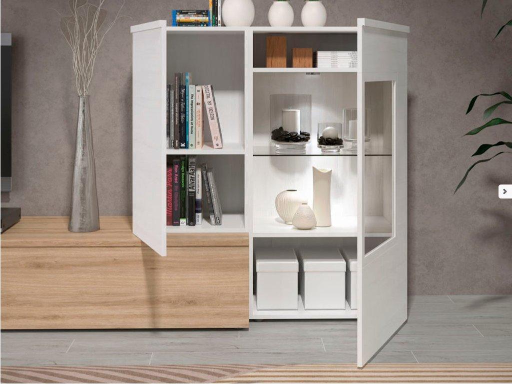 mueble-salon-tv-comedor-madera-melamina-moderno-economico-roble-blanco-muebles-ramis-detalle-vitrina-neo