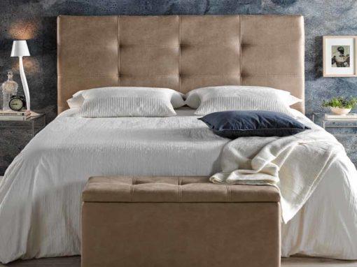 Cabezal de cama tapizado