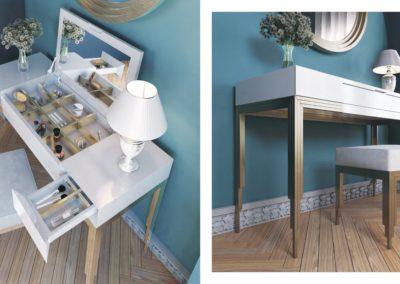 Tocadores bella, elige los acabados y combina cualquier tocador con cualquier espejo y butaca del catálogo.