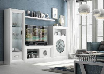 Composición de Salón Serik Limited Color 120 Tirador y Roseta Cromado Medida total: 317 cm
